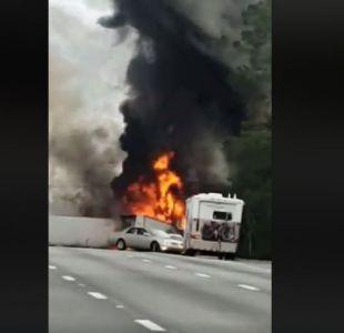 [VIDEO] Impactante accidente camino a Disney World: Hay 7 muertos, entre ellos 5 niños