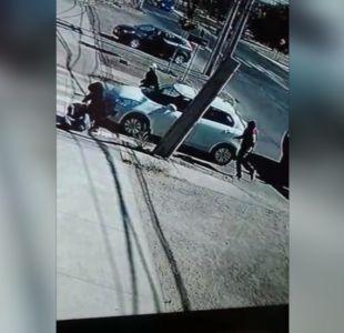 """[VIDEO] Conductor apuñalado en """"portonazo"""""""