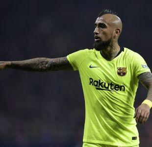 Arturo Vidal se despidió de compañero en el Barcelona