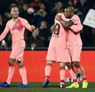 Vidal y Barcelona arrancan el 2019 con una ajustada victoria ante Getafe