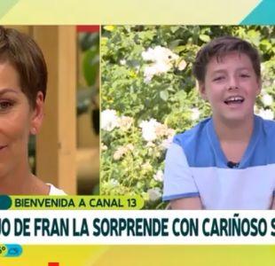 [VIDEO] El mensaje del hijo de Francisca García-Huidobro que la emocionó en su debut en el 13