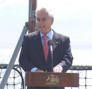 [VIDEO] Piñera llegó al Canal Beagle para conmemorar  40 años de Acuerdo de Paz