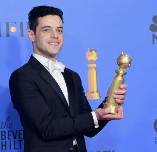 Rami Malek celebra Globos de Oro con su hermano gemelo idéntico