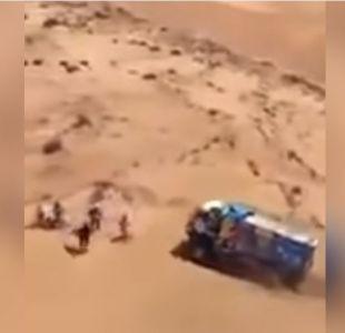 Descalifican del Dakar a ruso que atropelló a un espectador con su camión