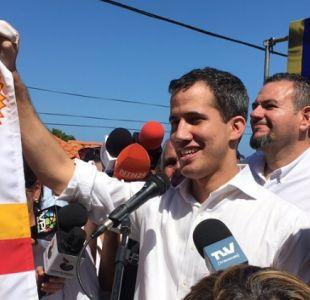Juan Guaidó, presidente interino de Venezuela celebró su liberación junto a sus seguidores
