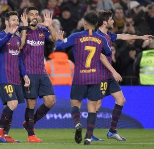 Arturo Vidal sumó minutos en la goleada del Barcelona sobre el Eibar de Fabián Orellana
