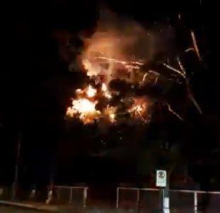 [VIDEOS] Bomberos de Ñuñoa trabajan en emergencia eléctrica de Villa Frei