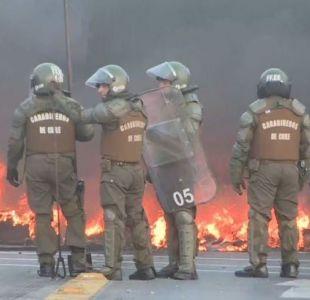 """8 detenidos tras protestas contra la """"Ley de la Jibia"""" en Talcahuano"""