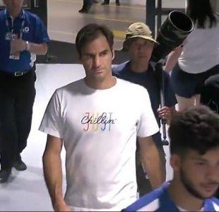 [VIDEO] Guardia le negó el acceso a Roger Federer por no llevar acreditación