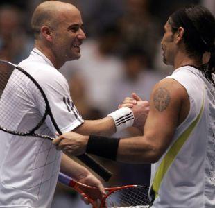 Andre Agassi y Marcelo Ríos