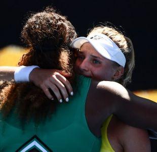 Serena Williams consoló a rival: Lo hiciste increíble, no llores