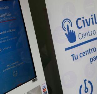 Tótem de autoatención del Registro Civil