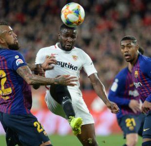 [VIDEO] Sevilla sorprende al FC Barcelona de Arturo Vidal y toma ventaja en la Copa del Rey