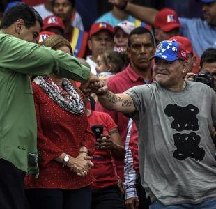 Maradona entrega su apoyo a Nicolás Maduro: En Venezuela gobierna el pueblo