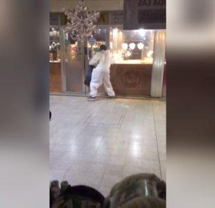 [VIDEO] Balacera en asalto a dos joyerías en Temuco