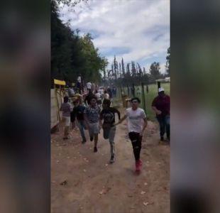 [VIDEO] Arquero detenido por balacera en pleno partido de fútbol