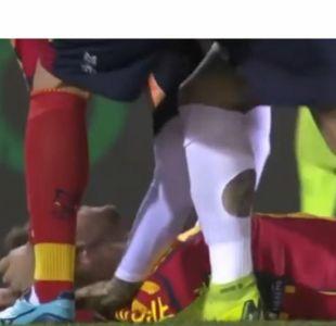 Partido fue suspendido luego de que jugador cayera inconsciente