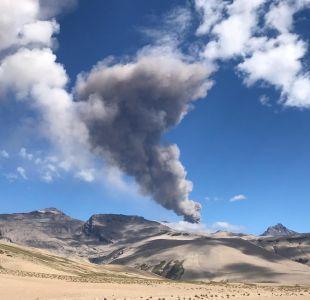 Aumenta actividad en complejo volcánico Planchón Peteroa de la región del Maule
