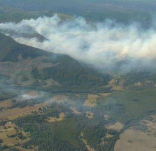 Onemi decreta alerta roja para la comuna de Quilaco por incendio forestal