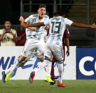 Argentina vence a Venezuela en la tercera fecha del hexagonal final del Sudamericano Sub 20