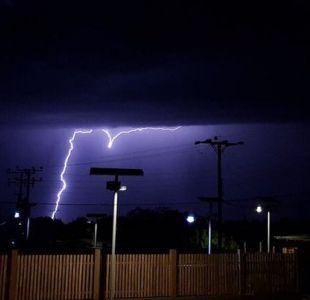 Meteorología emite aviso por tormentas eléctricas en el norte del país