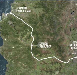 Tren uniría Santiago y Valparaíso