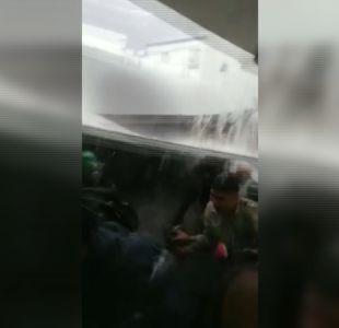 Codelco aclara situación de trabajadores tras caída de techo durante fuertes lluvias