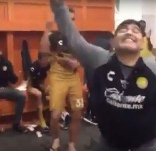 Diego Maradona festejó bailando la victoria de Dorados