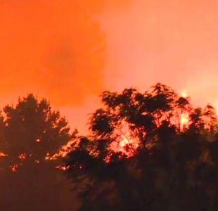 [VIDEO] Región de Biobío: Incendios forestales dejan al menos seis personas lesionadas en Penco