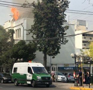 [VIDEO] Incendio afectó a vivienda que pertenecía a La Quintrala