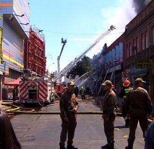 [VIDEO] 18 locales fueron destruidos tras incendio en barrio Meiggs