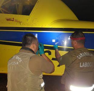 [FOTOS] Biobío: Desconocidos realizan disparos a aeronave que participa en el combate de incendios