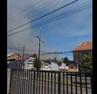 [VIDEO] Onemi ordena evacuación en sector de Pitrufquén por incendio forestal