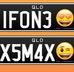 Conductores australianos podrán solicitar un emoji en su placa patente