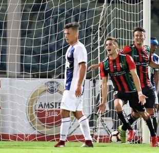 Palestino remontó y en un partidazo rescató un empate ante Talleres por Copa Libertadores
