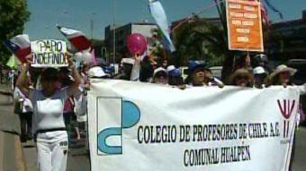 [T13] Paro docente: Miles de profesores se movilizaron en Concepción