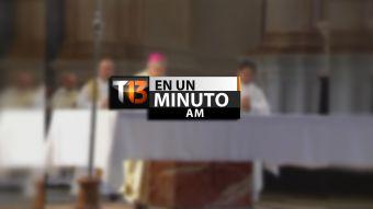 [VIDEO] #T13enunminuto: presentan segunda denuncia por abuso de sacerdote en España y otras noticias