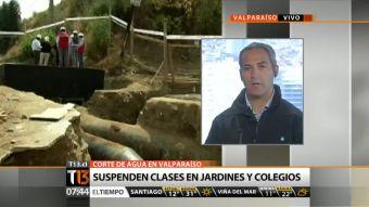 Clases suspendidas y suministro especial para centros de Salud marcan corte de agua en Valparaíso