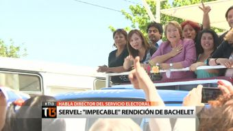 "[T13] Director del Servel califica rendición de campaña de Bachelet como ""impecable"""