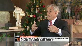 """Sebastián Piñera: """"Este gobierno cree que el estado debe hacerse cargo de todo"""""""
