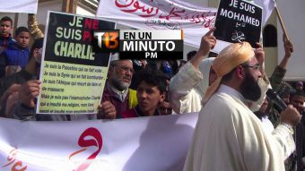[VIDEO] #T13enunminuto: protesta contra Charlie Hebdó en Marruecos y otras noticias del mundo