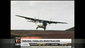 Tribunal constitucional ordenó paralizar investigación por el accidente aéreo del CASA 212