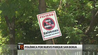 Polémica por remodelación del parque San Borja