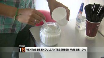 Venta de endulzantes subió un 10% en Chile
