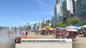 Vacaciones, pero en invierno: descuentos en viajes bordean el 35%