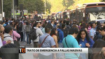 Autoridades darán trato de emergencia a fallas masivas en el Metro de Santiago