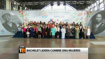 Bachelet lidera Cumbre ONU mujeres junto a 63 líderes mundiales