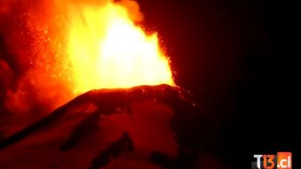 [VIDEOS] Así fue el momento de la erupción del Volcán Villarrica