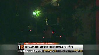 Delincuentes amarran y hieren a dueño de casa en violento asalto en Las Condes