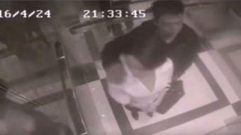 [VIDEO] Intentó abusar de una mujer en ascensor pero recibió una patada que jamás olvidará